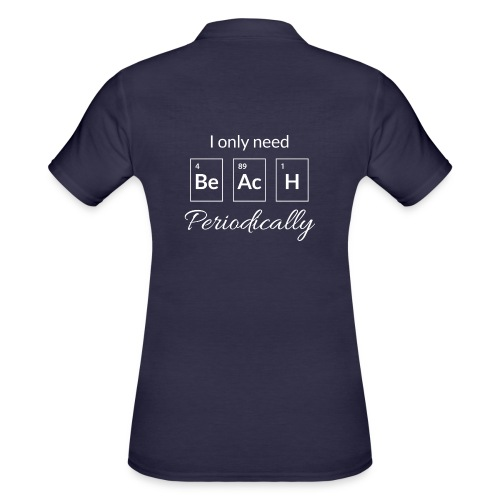 Periodensystem beach periodically - Frauen Polo Shirt