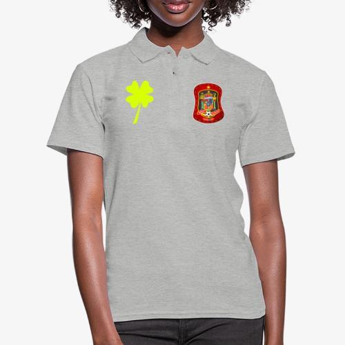 Escudo de la suerte / España / Trébol y banderola - Camiseta polo mujer