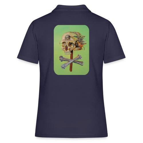oil painting of skull and bones - Women's Polo Shirt