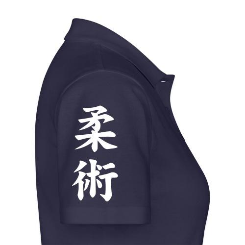 jiu-jitsu på japansk og logo i hvid - Poloshirt dame