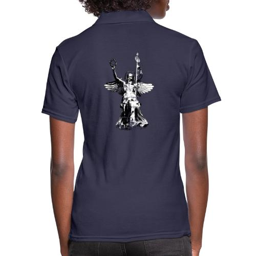 Goldelse mit Kopfhörer (Vintage Schwarz/Weiß) - Frauen Polo Shirt