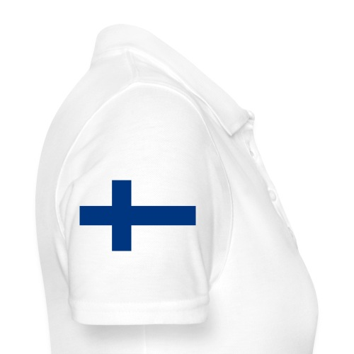800pxflag of finlandsvg - Women's Polo Shirt