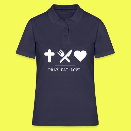 khg shirts prayeatlove blau 0101 - Frauen Polo Shirt