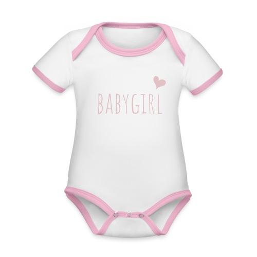 babygirl - Baby Bio-Kurzarm-Kontrastbody