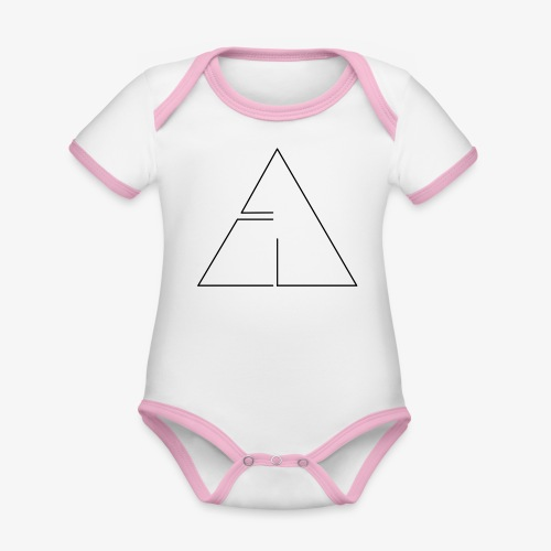 logo cg2 - Body da neonato a manica corta, ecologico e in contrasto cromatico