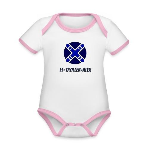 DISEÑO EL TROLLER ALEX EVO - Body contraste para bebé de tejido orgánico