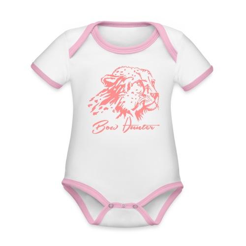 gepard bow hunter - Baby Bio-Kurzarm-Kontrastbody