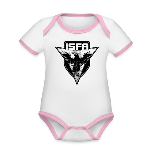 isfa logo 1c schwarz - Baby Bio-Kurzarm-Kontrastbody