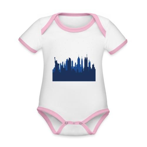 Manhattan Skyline - Body Bébé bio contrasté manches courtes