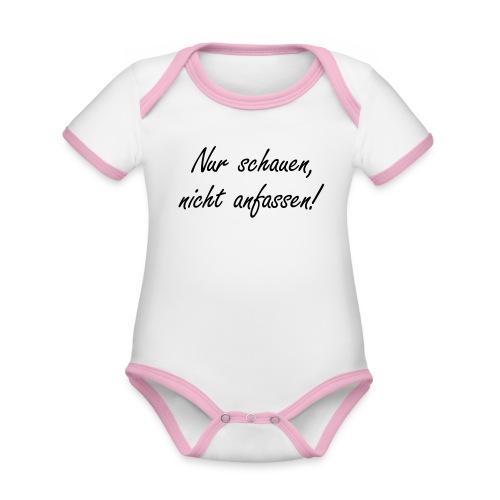 Nur schauen, nicht anfassen! - Baby Bio-Kurzarm-Kontrastbody