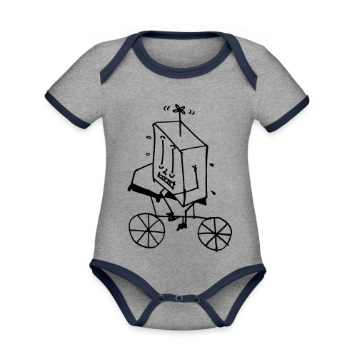bike thing - Organic Baby Contrasting Bodysuit