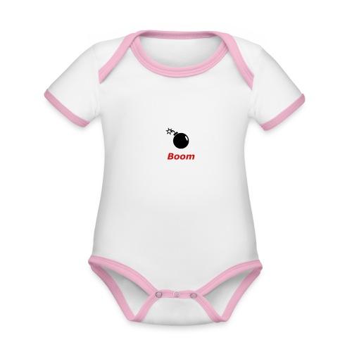 Bomba - Ekologiczne body niemowlęce z krótkim rękawem i kontrastowymi lamówkami