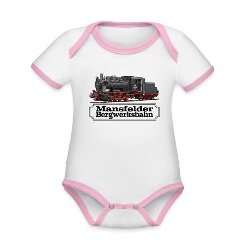 mansfelder bergwerksbahn dampflok 1 - Baby Bio-Kurzarm-Kontrastbody