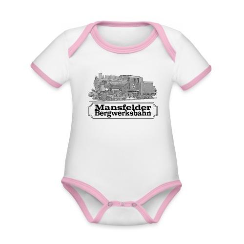 mansfelder bergwerksbahn dampflok 2 - Baby Bio-Kurzarm-Kontrastbody