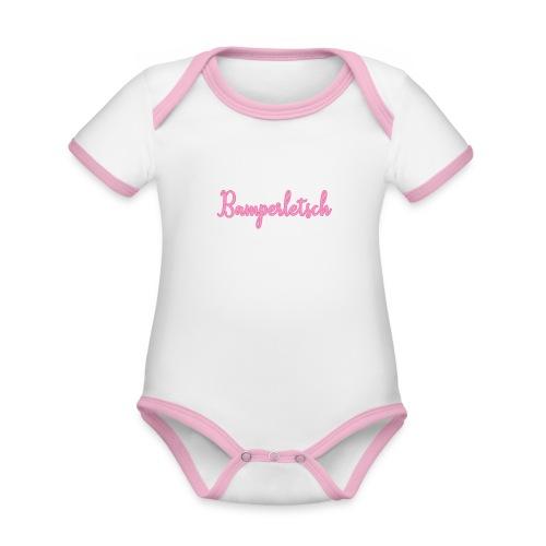 Bamperletsch in Pink - Baby Bio-Kurzarm-Kontrastbody