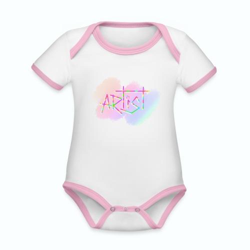 Artist in Colors - Body contraste para bebé de tejido orgánico