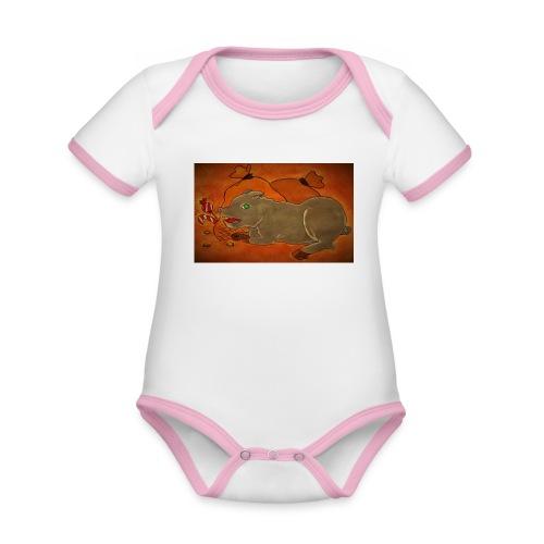 Ahneus - Vauvan kontrastivärinen, lyhythihainen luomu-body