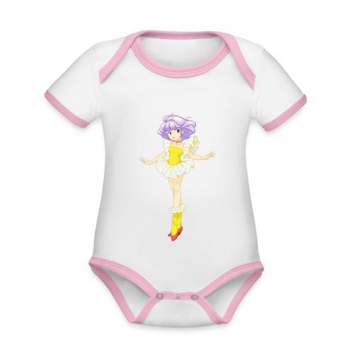 creamy - Body da neonato a manica corta, ecologico e in contrasto cromatico