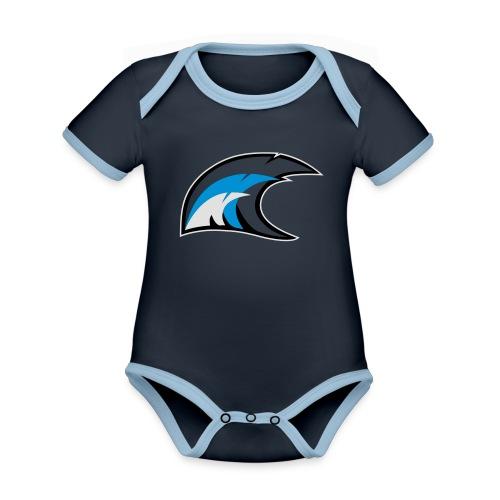 solo logo new - Body da neonato a manica corta, ecologico e in contrasto cromatico