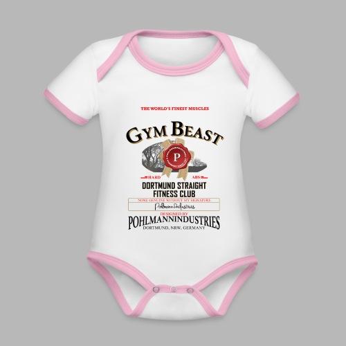 GYM BEAST - Baby Bio-Kurzarm-Kontrastbody