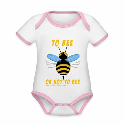 Bee Jaune - Body Bébé bio contrasté manches courtes