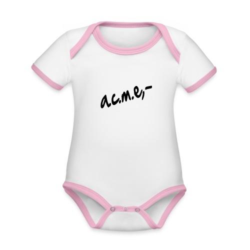 acmeproductionswhite - Baby Bio-Kurzarm-Kontrastbody
