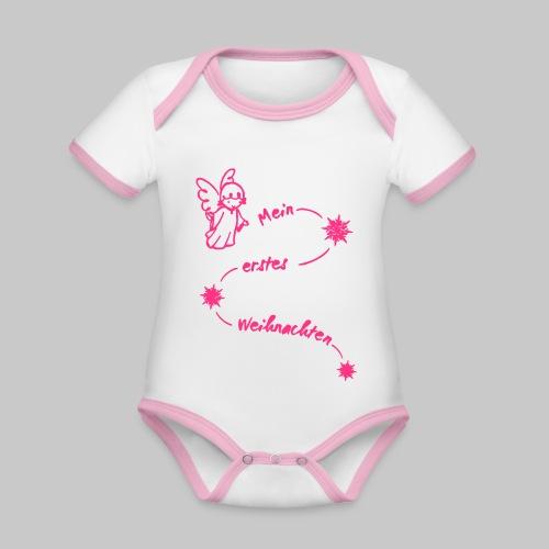 Mein erstes Weihnachten Baby Engel 2reborn - Baby Bio-Kurzarm-Kontrastbody