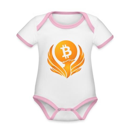 BITCOIN FENIKS - Ekologiczne body niemowlęce z krótkim rękawem i kontrastowymi lamówkami