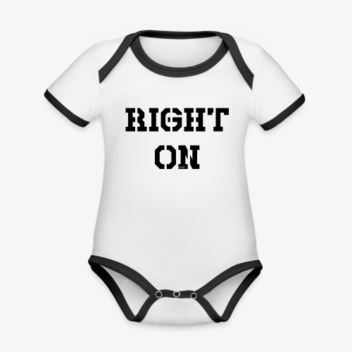 Right On - black - Baby Bio-Kurzarm-Kontrastbody