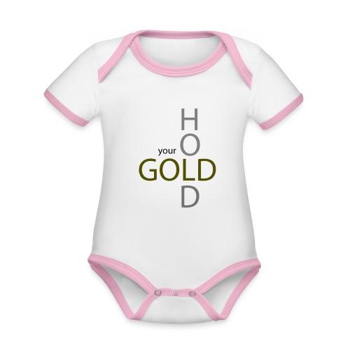 hold your gold - Baby Bio-Kurzarm-Kontrastbody