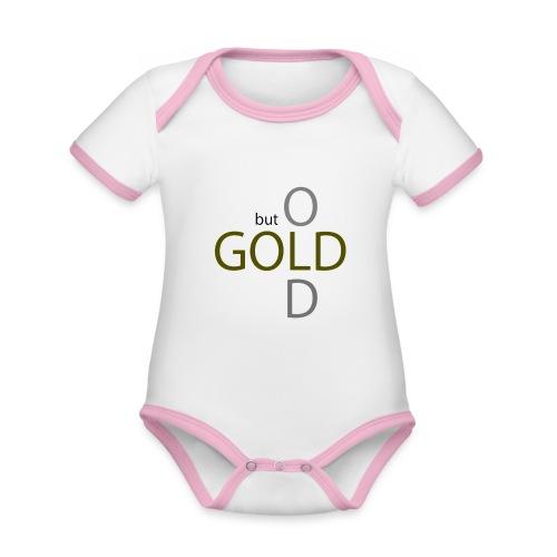 old but gold - Baby Bio-Kurzarm-Kontrastbody
