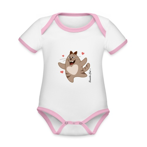 Verliebt - Sancho Cat © - Baby Bio-Kurzarm-Kontrastbody