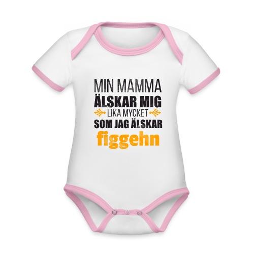 Min mamma älskar mig - Ekologisk kontrastfärgad kortärmad babybody