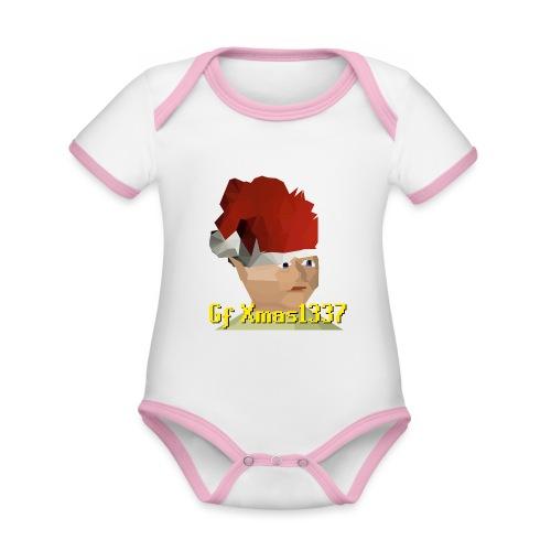 Gnomechild Christmas - Økologisk kortermet kontrast-babybody