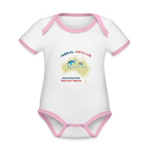 Australien - Spendenaktion - Animal Rescue - Baby Bio-Kurzarm-Kontrastbody