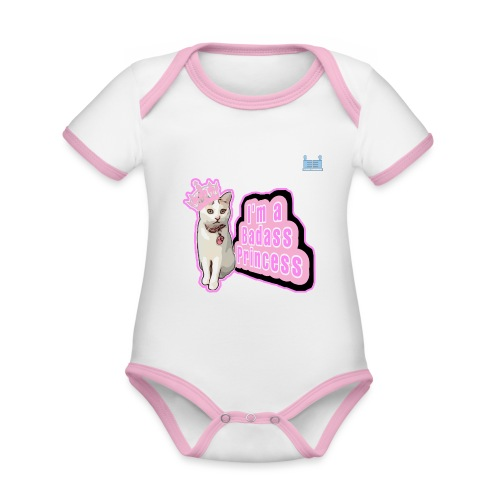 Badass Princess - Organic Baby Contrasting Bodysuit