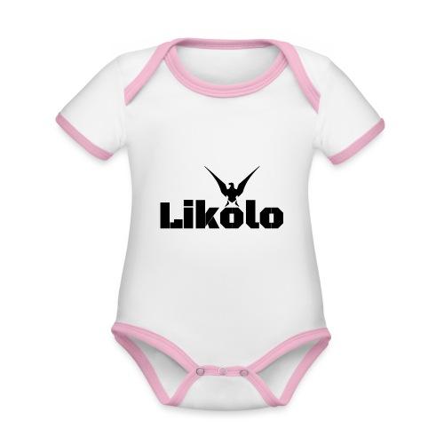 likolo.. - Body Bébé bio contrasté manches courtes