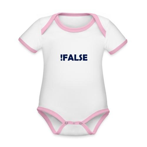 !False - Baby Bio-Kurzarm-Kontrastbody