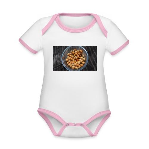 Cacahuate - Body contraste para bebé de tejido orgánico