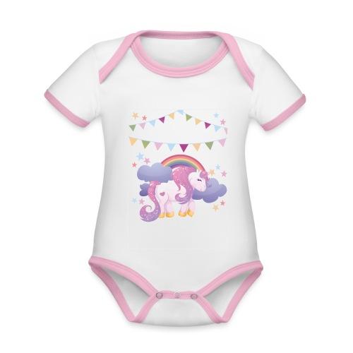 Dream horse - Organic Baby Contrasting Bodysuit