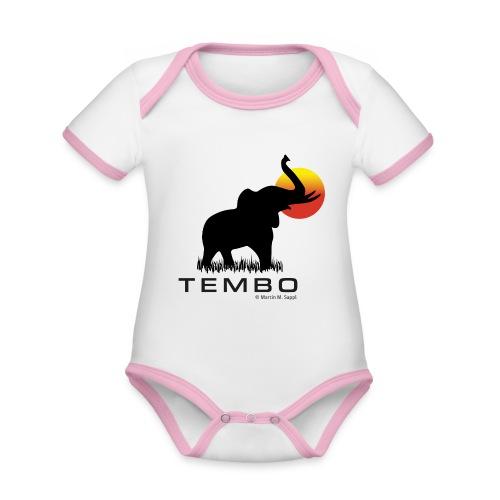 elephant - Tembo - Baby Bio-Kurzarm-Kontrastbody