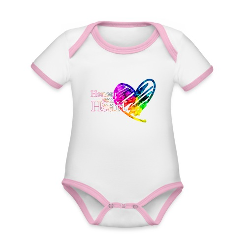 Honour Your Heart 2021 - Organic Baby Contrasting Bodysuit