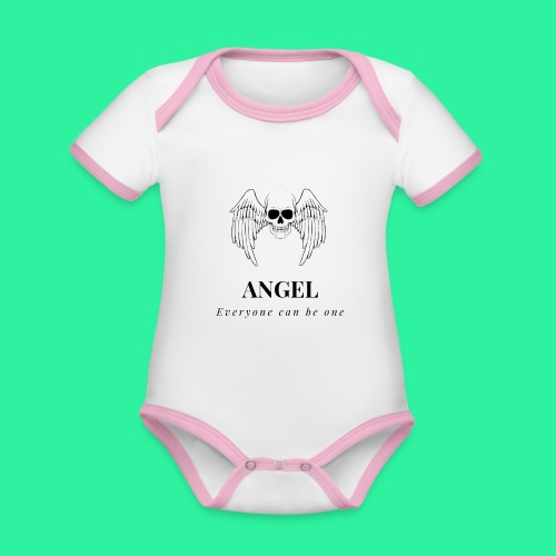 ANGEL - Baby Bio-Kurzarm-Kontrastbody