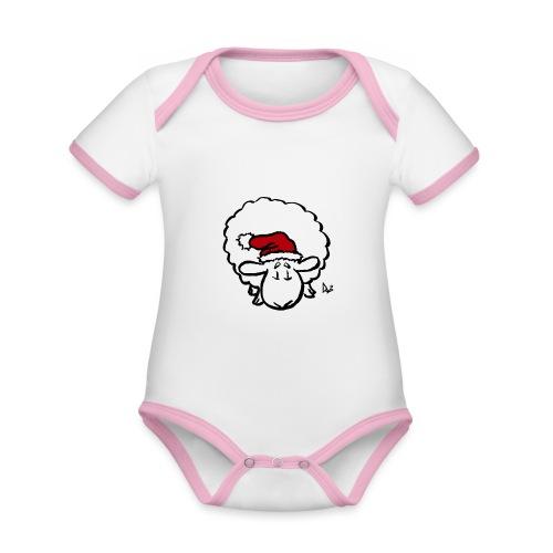 Santa Sheep (red) - Body Bébé bio contrasté manches courtes