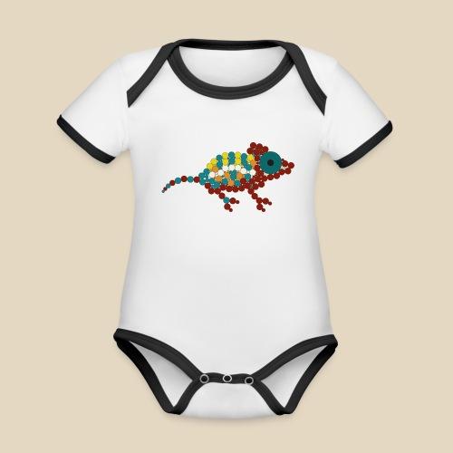 Chameleon - Body Bébé bio contrasté manches courtes