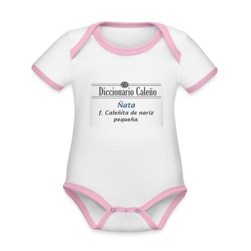 Diccionario caleño_ñata - Body contraste para bebé de tejido orgánico