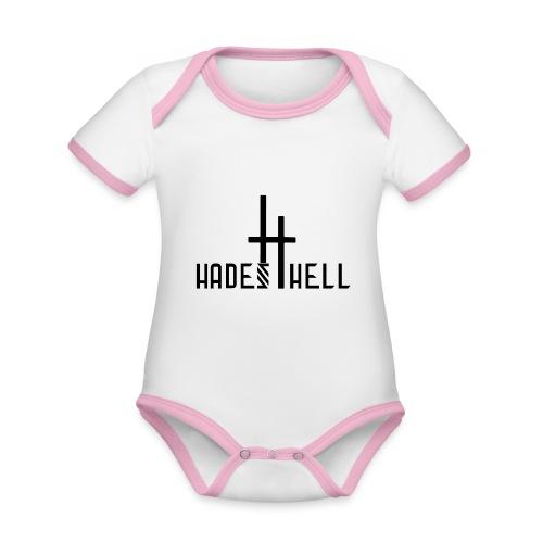 Hadeshell black - Baby Bio-Kurzarm-Kontrastbody