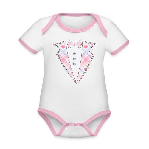 bébé costume rose Cadeau - Body Bébé bio contrasté manches courtes