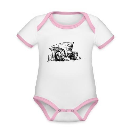 Futuristic design tractor - Organic Baby Contrasting Bodysuit