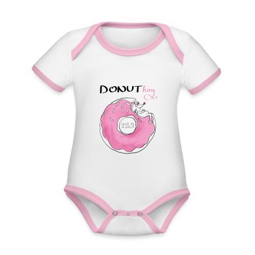 donuthing Maus - Baby Bio-Kurzarm-Kontrastbody